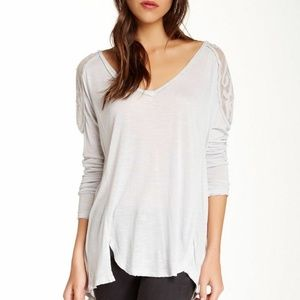 Free People The Gatsby Patchwork Dove Blouse